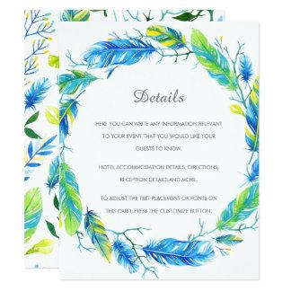 Cartão de detalhes moderno brilhante do casamento convite 10.79 x 13.97cm