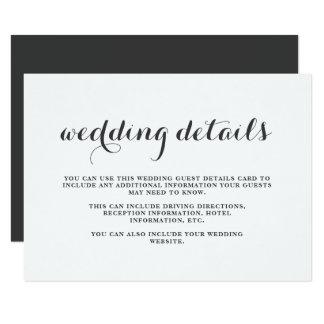 Cartão de detalhes rústico do convidado do