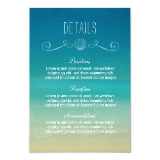 Cartão de detalhes tropical do casamento de praia