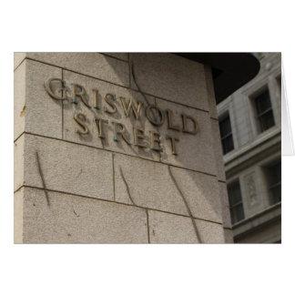 Cartão de Detroit - rua de Griswold