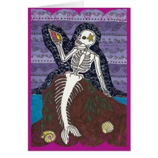 Cartão de Diâmetro de Los Muertos Sereia