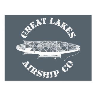 Cartão de Dirigível Empresa dos grandes lagos