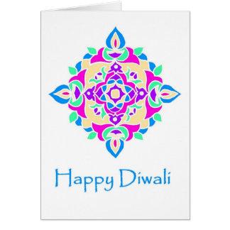 Cartão Cartão de Diwali com teste padrão de Rangoli