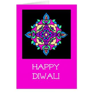 Cartão de Diwali com teste padrão de Rangoli