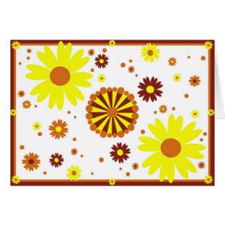Cartão de Diwali da flor