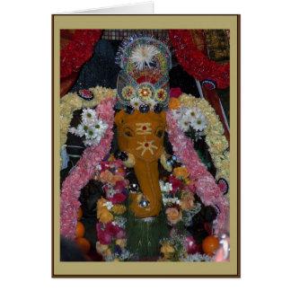 Cartão de Diwali da foto de Ganesh - retrato