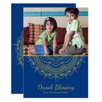 Cartão de Diwali da mandala - cor feita sob