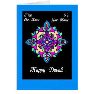 Cartão Cartão de Diwali de nossa casa a seu