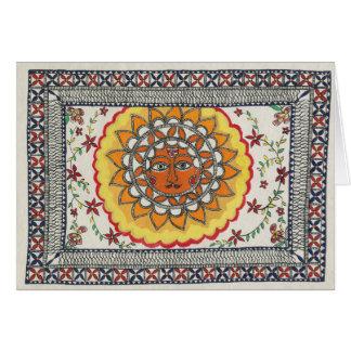 Cartão de Diwali Sun