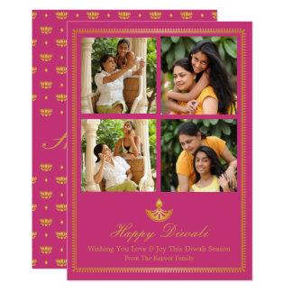 Cartão de Diya Diwali - cor feita sob encomenda