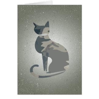 Cartão de dobramento 4 do gato de Camo