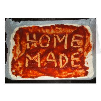 Cartão de dobramento baixo da pizza caseiro