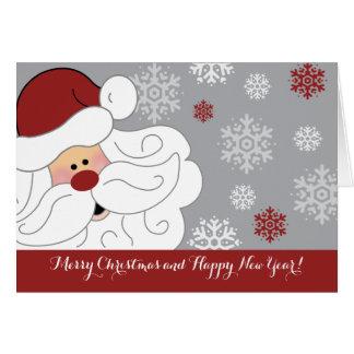 Cartão de dobramento personalizado de Papai Noel