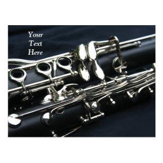 Cartão de dois clarinetes