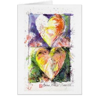 Cartão de dois corações