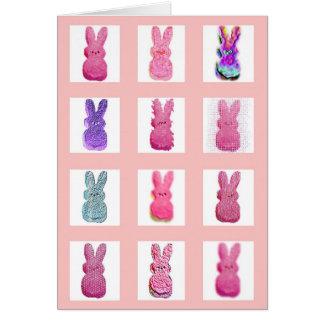 Cartão de doze coelhos