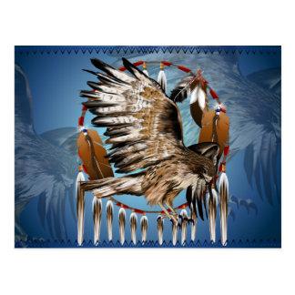 Cartão de Dreamcatcher do falcão do vôo