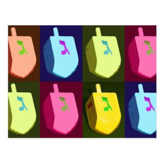 Cartão de Dreidel Hanukkah
