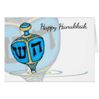 Cartão de Dreidel Hanukkah do mosaico