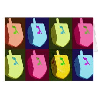 Cartão de Dreidels Hanukkah