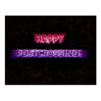 """Cartão de """"efeito do espaço Postcrossing """""""