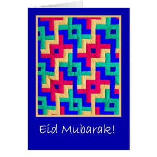Cartão de Eid - edredão islâmica do design Cartão Comemorativo