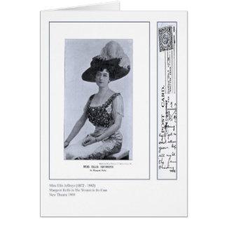 Cartão de Ellis Jeffreys da atriz