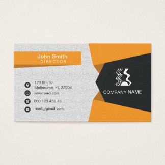 Cartão de empresa amarelo