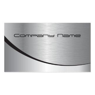 Cartão de empresa de prata cartão de visita
