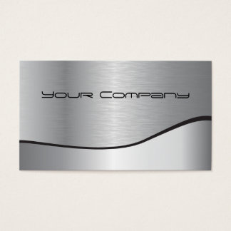 cartão de empresa de prata do Dois-tom