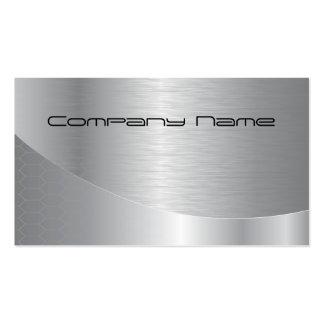 Cartão de empresa de prata elegante