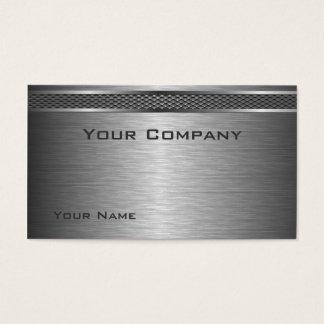 Cartão de empresa de prata escovado elegante