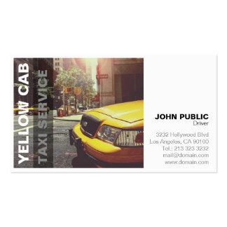Cartão de empresa de serviços amarelo do táxi do cartoes de visitas