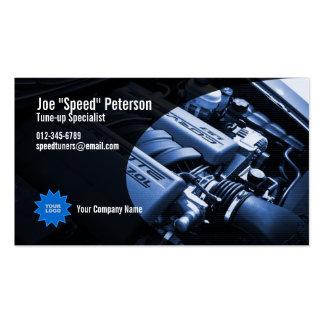 Cartão de empresa de serviços azul do carro do mot cartoes de visitas