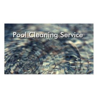 Cartão de empresa de serviços da limpeza da piscin cartoes de visitas