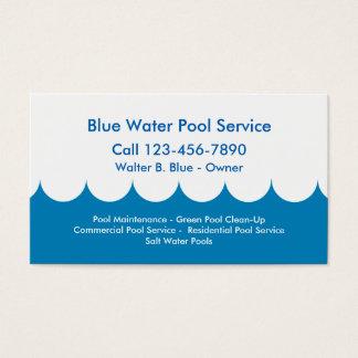 Cartão de empresa de serviços da piscina