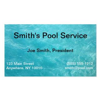 Cartão de empresa de serviços da piscina modelo de cartões de visita