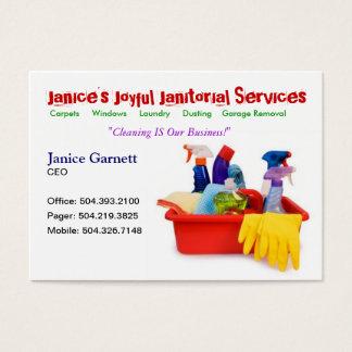 Cartão de empresa de serviços de limpeza