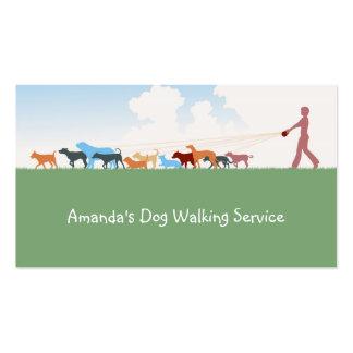 Cartão de empresa de serviços de passeio do cão cartão de visita