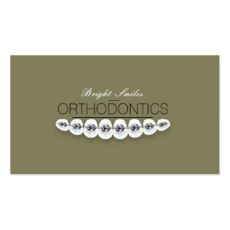 Cartão de empresa de serviços dental do dentista cartão de visita