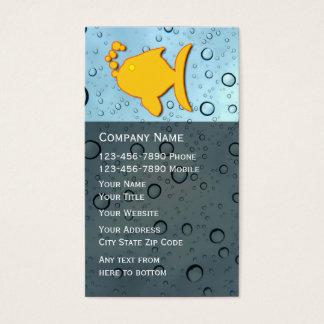 Cartão de empresa de serviços do aquário