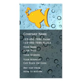 Cartão de empresa de serviços do aquário cartão de visita