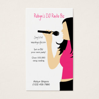 Cartão de empresa de serviços do DJ da música do