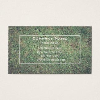 Cartão de empresa de serviços do gramado
