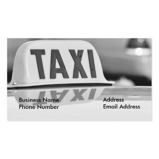 Cartão de empresa de serviços do motorista de táxi cartoes de visitas