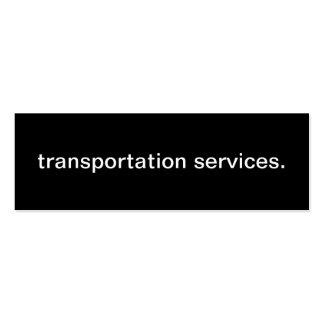 Cartão de empresa de serviços do transporte cartão de visita skinny