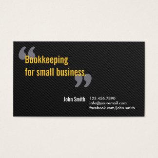 Cartão de empresa de serviços escuro mínimo da