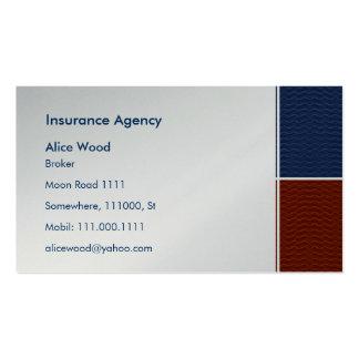 Cartão de empresa seguradora cartão de visita