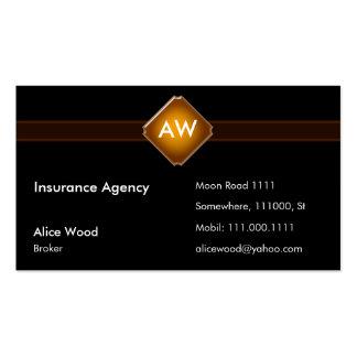 Cartão de empresa seguradora do monograma cartão de visita