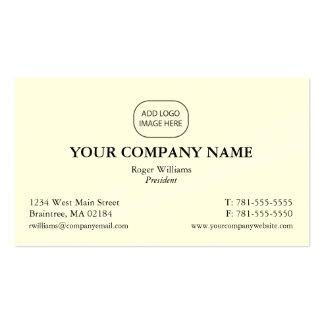 Cartão de empresa simples - adicione seu logotipo cartão de visita